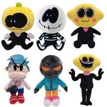 6pcs/set Anime Friday Night Funkin Plush Toy Cute Spooky Month Skid Pump Whitty Plushies Stuffed Dolls Children Toy Gift