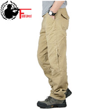 30 40 High Quality Mens Cargo Pant Baggy Casual Men Tactical Pant Multi Pocket Military Overall Male Outdoors Long Trouser Army