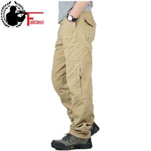 Image 1 - 30 40 yüksek kaliteli erkek kargo pantolon Baggy rahat erkekler taktik pantolon çok cep askeri genel erkek açık havada uzun pantolon ordu