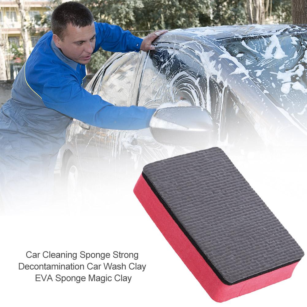 Car Cleaning Sponge Strong Decontamination Car Wash Clay EVA Sponge Magic Clay
