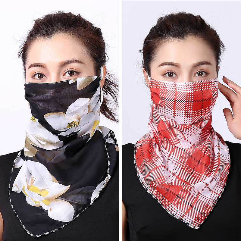 Silk Face Mask Scarf Hair Scarf Wraps And Shawls Female Bandana Accessories Neck Scarves Luxury Brand Hijab 2020 New Summer