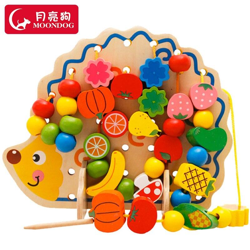 Cord Children Beaded Bracelet Sub-Wear Infants Bead-stringing Toy Toy Educational Force Boy Baby Girls 1 A 2 Building Blocks 3-6