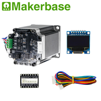 12-24V STM32 closed loop stepper motor MKS SERVO57B + adapter directly connect mainboard 0.9inch OLED for 3D printer parts