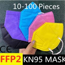 Hot! 20 sztuk CE KN95 FFP2 kn95 maski 5 warstwy maska maska ochronna pyłoszczelna ffp2 koreański KN95 maska maske ce tanie tanio Chin kontynentalnych GB2626-2006
