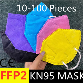 Hot! 20PCS CE KN95 FFP2 kn95 masks 5 Layers Dust Respirator Face Protective Mask Dustproof ffp2 korean KN95 mask maske ce