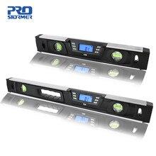PROSTORMER-nivel digital electrónico clinómetro, Localizador de ángulos de 40 cm/60 cm, pantalla LCD, imanes