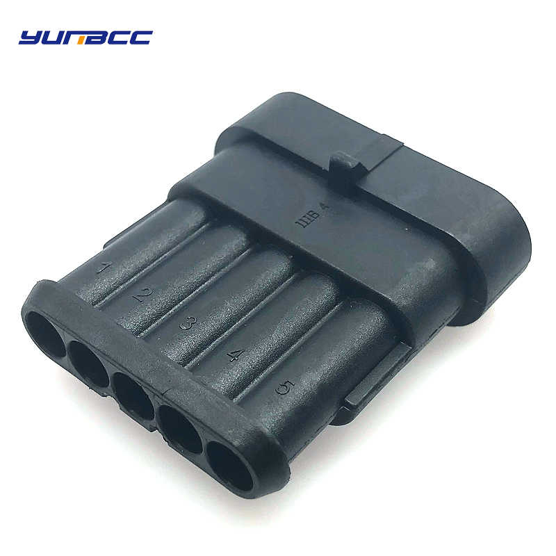 5 pieces/pcs 5 pin/forma de 1,8mm de la serie tyco amp auto carcasa impermeable cable de enchufe conector de cableado 282107-1