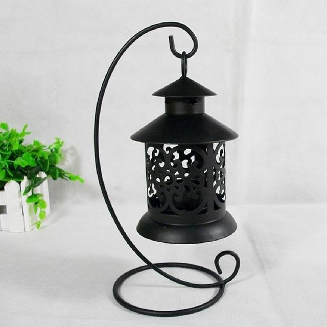 European Vintage Metal Birdcage Lantern Candle Holder Garden Night Outdoor Tea Light Wedding Home Table Decoration Holder 4