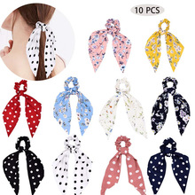 coil ribbon three state accessories new long style hair binding horse tail two in one European and American hair circle
