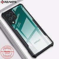 Rzants-funda transparente de cristal duro para Samsung Galaxy M12, M62, F62, A12, carcasa trasera transparente, marco Flexible de TPU, parachoques