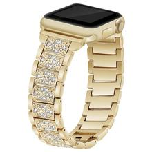 Watchband for Apple Watch full diamond metal strap iWatch 43 generation diamond-encrusted apple watch 4
