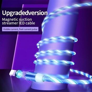 Câble magnétique lumière coloré pour iphone et samsung 2