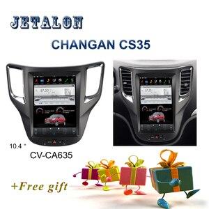 "Image 1 - PX6 Smart 10.4"" IPS Screen Tesla Navigation For Changan CS35 Android Car radio player GPS video recorder Car Multimedia Headunit"