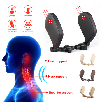 Car Neck Headrest Pillow Cushion Auto Seat Pillow Protector Head  Support Automobiles Seat Rest Neck Pillow For Kids Adults