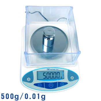 Ji Ming high-precision electronic scale balance 500g/0.01g with windshield level 100%
