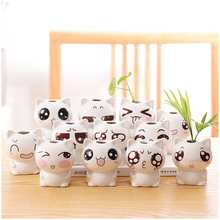 Vase  Water Culture Cartoon Cute Flower Arrangement Table Top Decoration Potted Plant Vases for Flowers