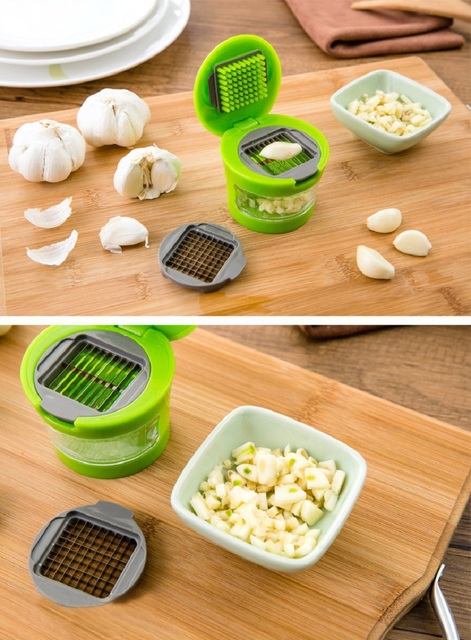 Garlic Chopper Mini Portable ABS Stainless Steel