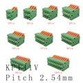 KF141V 2,54 мм шаг, прямой штырь, монтируемый на печатной плате, пружинный scless, Клеммная колодка, коннектор 2/3/4/5/6/7/8/9/10 P 150V 2A для 26-20AWG