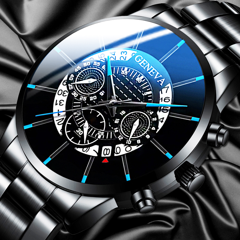 New Fashion Men Stainless Steel Watch Luxury Calendar Quartz Wrist Watches Business Casual Watch For Men Clock Relogio Masculino