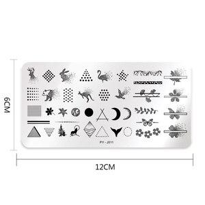 Image 5 - PICT คุณ AnimalNail ปั๊มสแตนเลสเรขาคณิตเล็บภาพแสตมป์แผ่น Brird ผีเสื้อปั๊มแม่แบบเครื่องมือ