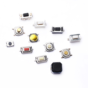 50PCS Tact Switch Silicone Button Micro Switch 3*4*2mm 3x6x4.3mm 2Pin 3x6x2.5mm 4*4*1.5mm SMD 4 Feet