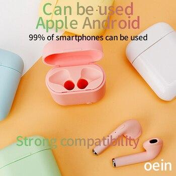 i7Mini TWS Wireless Earphones Bluetooth 5.0 Earphone Matte Earbuds Charging Box Headset Wireless Headphones for xiaomi iphone 3