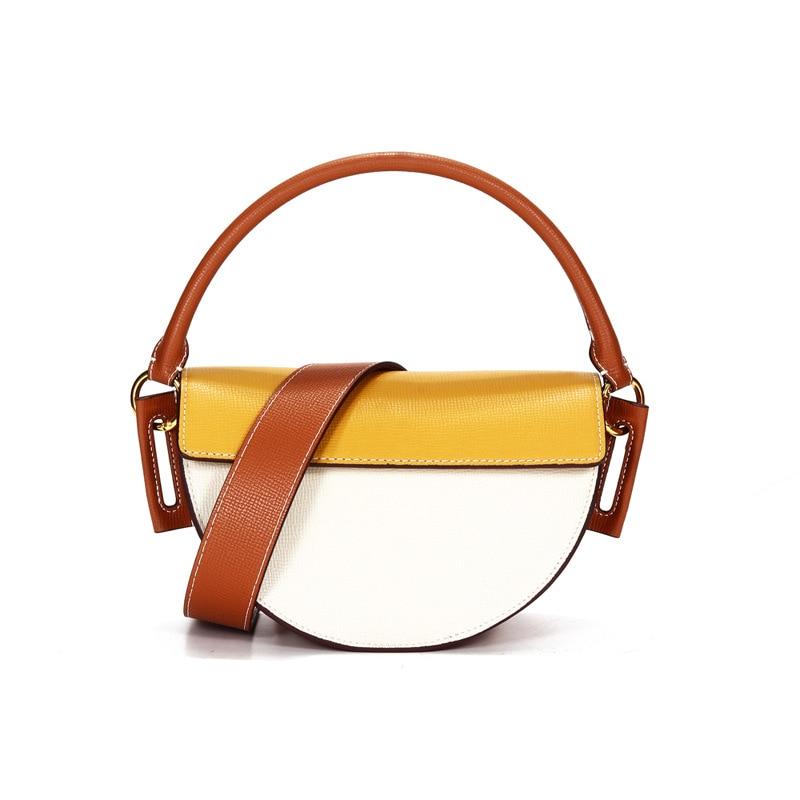 Новинка 2020, модная сумка из натуральной кожи, Маленькая женская сумка мессенджер, простая седельная Сумочка, женская сумка через плечо, мини вечерние сумки Сумки с ручками      АлиЭкспресс