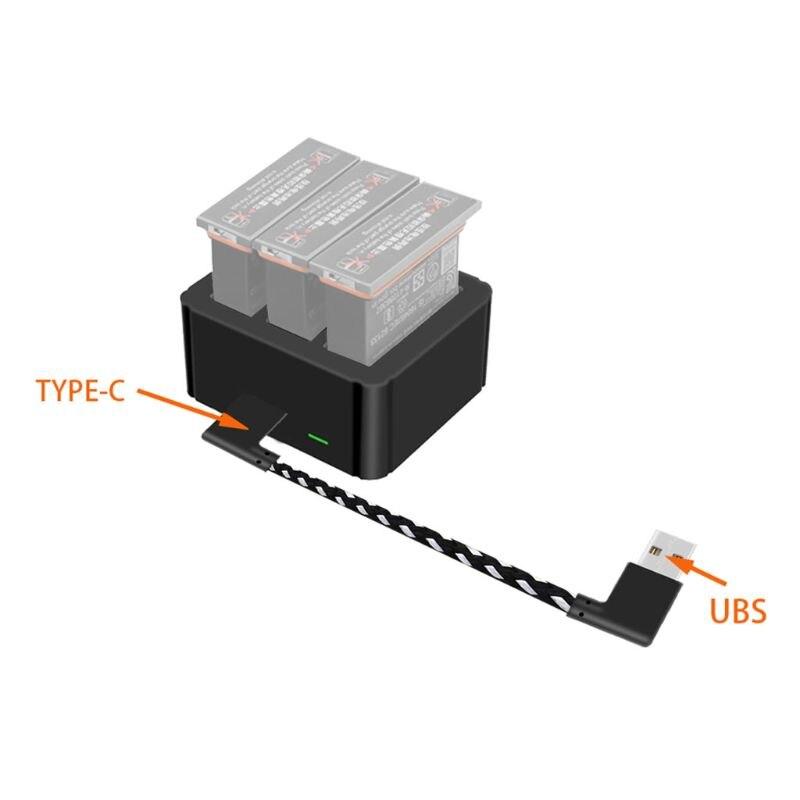 Портативный 3 в 1 USB зарядное устройство type-c зарядный порт батарея зарядная коробка док-адаптер для DJI OSMO Action S порт аксессуары для камеры