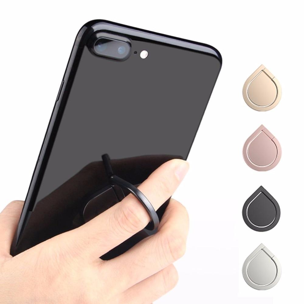 Metal Water Drop Degaussing Ring Grip Bracket Universal 360 Rotating Phone Stand Mini Finger Ring Holder For Smart Phones