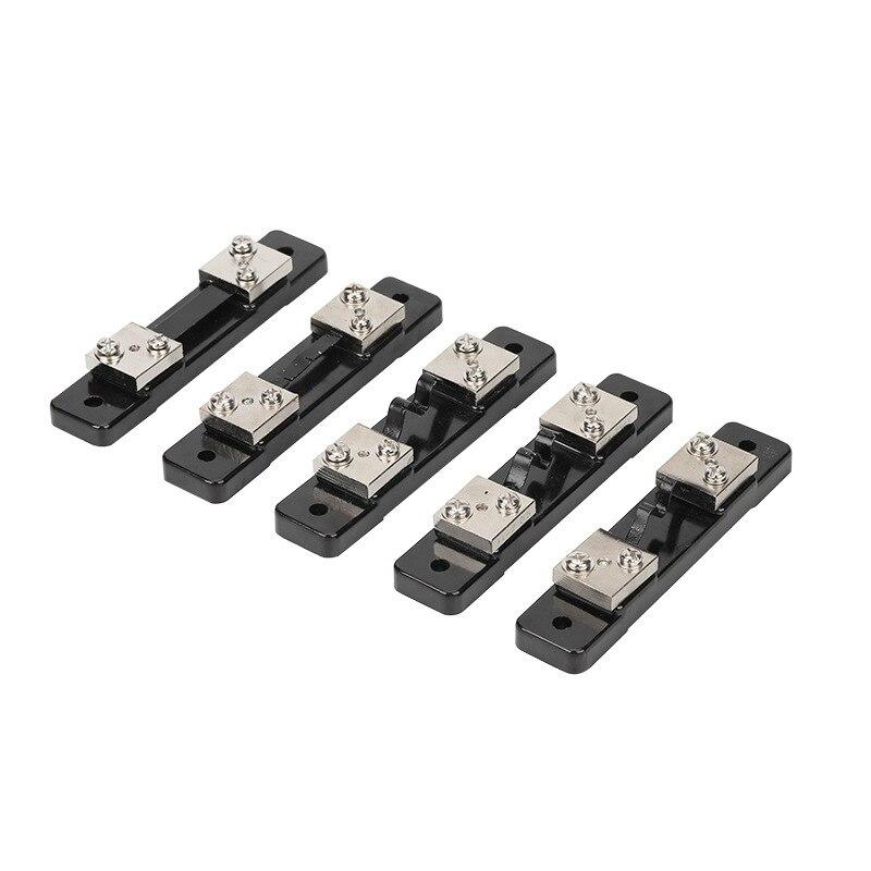 Шунт-резистор для цифрового амперметра, 10-50 а/75 мВ, 1 шт., наружный шунт-резистор для амперметра, амперметра, вольтметра, Ваттметра
