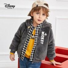 Disney Childrens Warm Plush Long Sleeve Top Kids Jacket  Boys Baby Girl Coat Thickening 2019