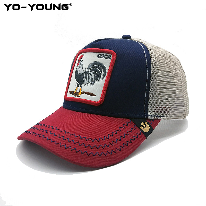 Yo-Young Animal   Baseball     Caps   Quality Animal Mesh   Caps   Male Female Gorra Snapback   Caps   For Adult Sun Hat 53-59 cm