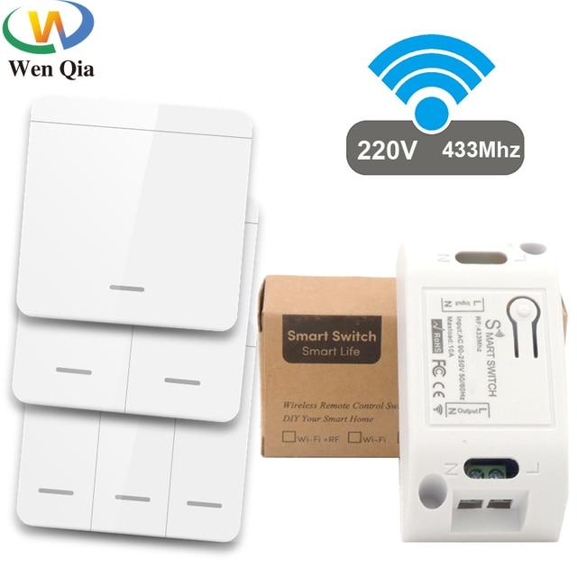 Умный универсальный беспроводной выключатель с кнопкой, 433 МГц, 10 А, 250 В переменного тока 1