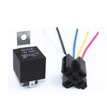 цена на 12V 40Amp With Copper Terminal Auto Relay With Relay Socket Waterproof Automotive Relay 12v 5pin 40a Car Relay