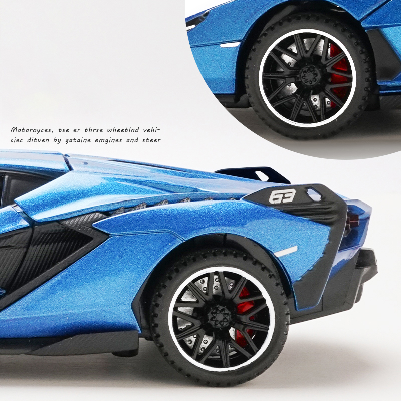 1:32 Lamborghinis Sian FKP37 Car Alloy Sports Car Model Diecast Sound Super Racing Lifting Tail Hot Car Wheel For Children Gifts 2