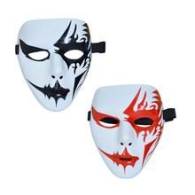 Маска на Хэллоуин, раскрашенная маска ручной работы, маскарадная Праздничная Маскарадная маска кабуки, карнавальный костюм, вечерние украшения