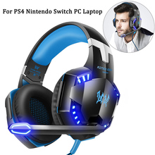 PS4 Gaming Headphones For Nintendo Switch Over-Ear Wired Stereo Game Headset Gamer Earphone Noise Reduction Microphone PC Laptop oneodio wired professional studio pro dj headphones with microphone over ear hifi monitors music headset earphone for phone pc