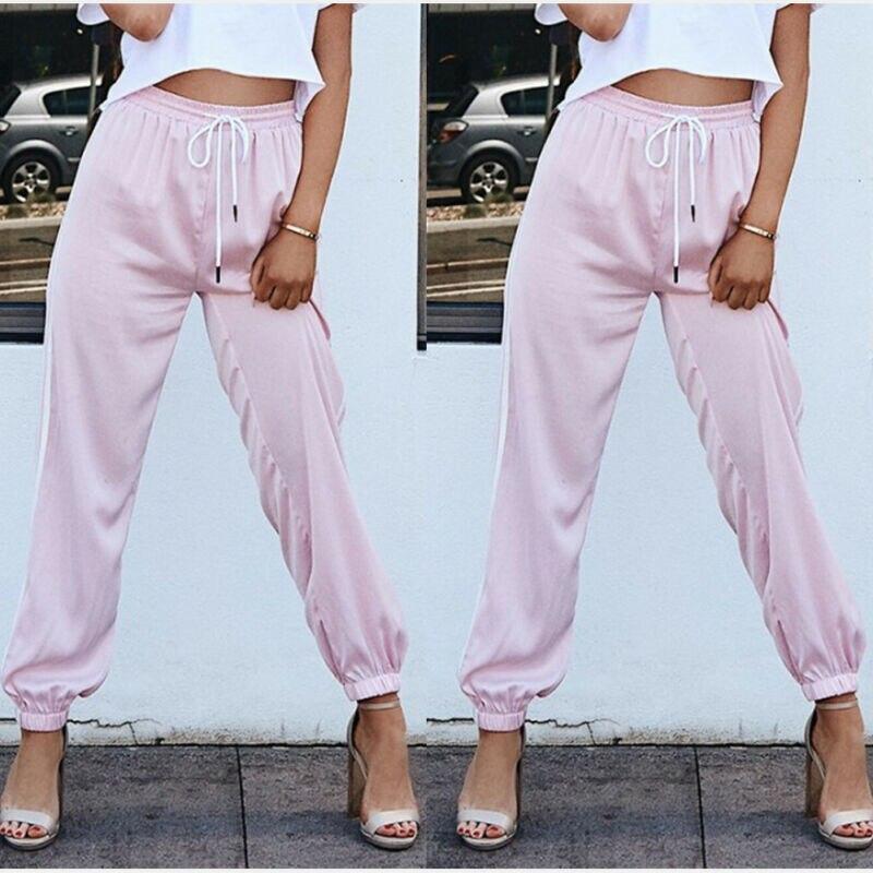 2019 New Fashion Women OL Harem Casual Long Drawstring Pants Summer Loose Work Trousers