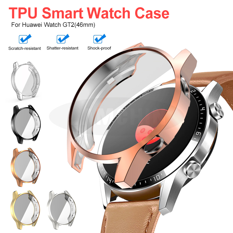 Soft TPU Protect Cover For Huawei Watch GT2 46mm Case Bumper For Watch GT 2 42mm Shell Protector Smart Watch Accessorie