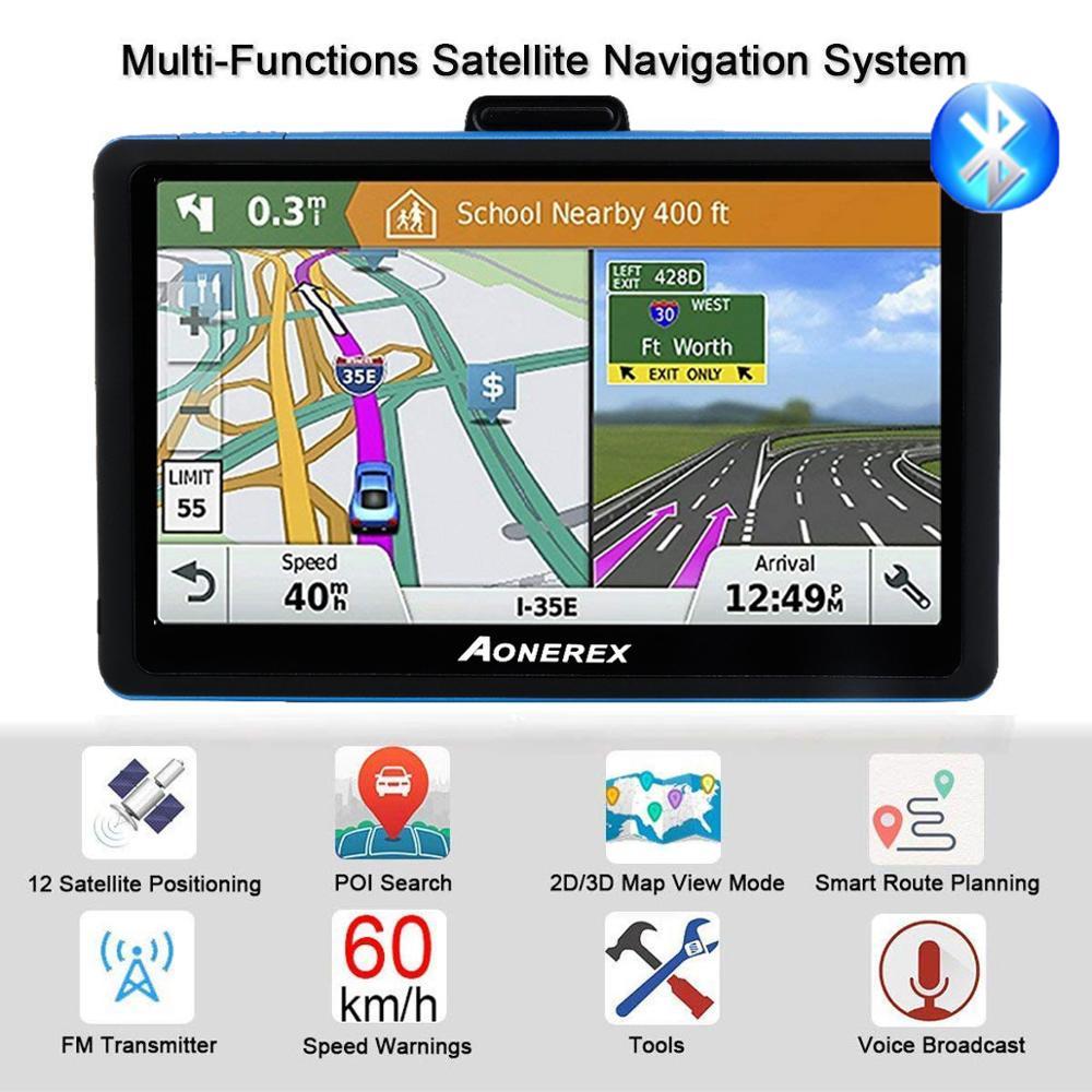 GPS автомобильное навигационное устройство 5 дюймов, ЖК-экран, FM, Bluetooth, спутниковая голосовая навигация, GPS навигация, автомобильные аксессуа...