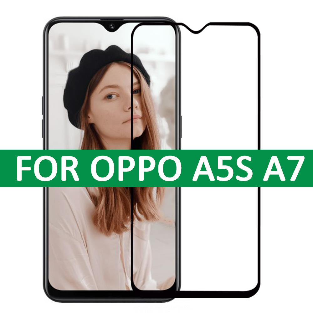 3D Full Glue Tempered Glass On For OPPO A5S Full Cover Screen Protector For OPPO A7 A5S 9H Anti-Oil Protective Film Glass