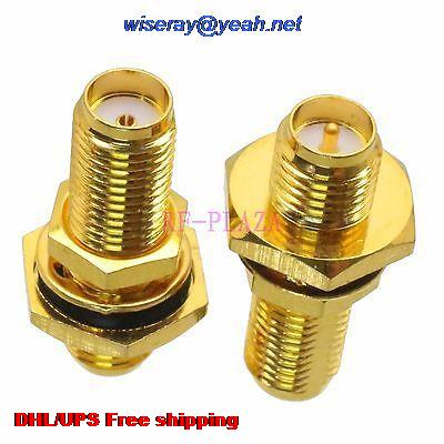 DHL/EMS 200pcs Adapter SMA Female To RPSMA Female O-Ring Bulkhead RF COAXIAL With One Year Warranty -a4