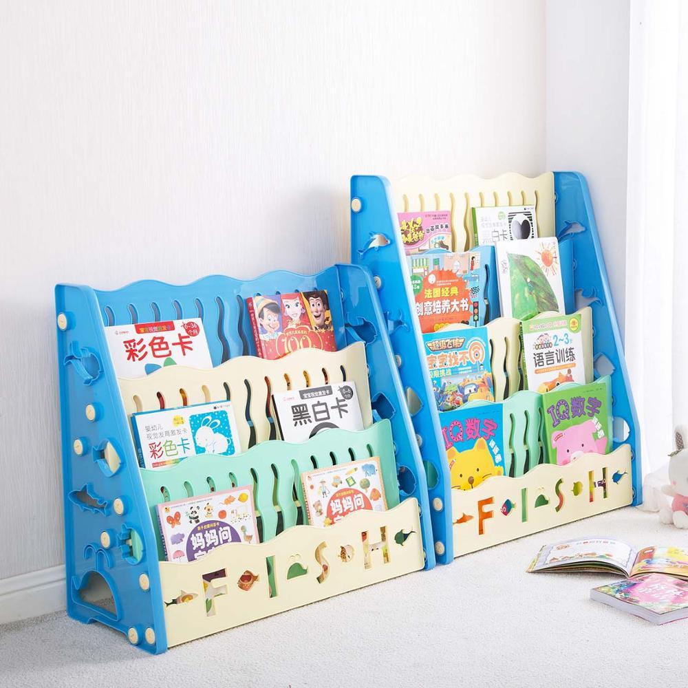 Plastic Desk Small Bookcase Floor Storage Rack Student Desktop Simple Kids Bookshelf Kids Room Furniture