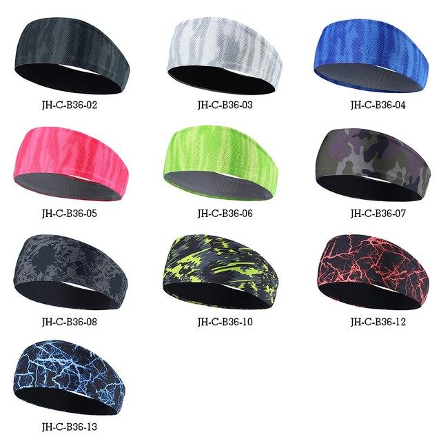 Elastic Men Headband Hairband Soft Sweatband Stretchy Headwear Bicycle Yoga Sport Moisture Wicking Hair Accessories Women Girls 2