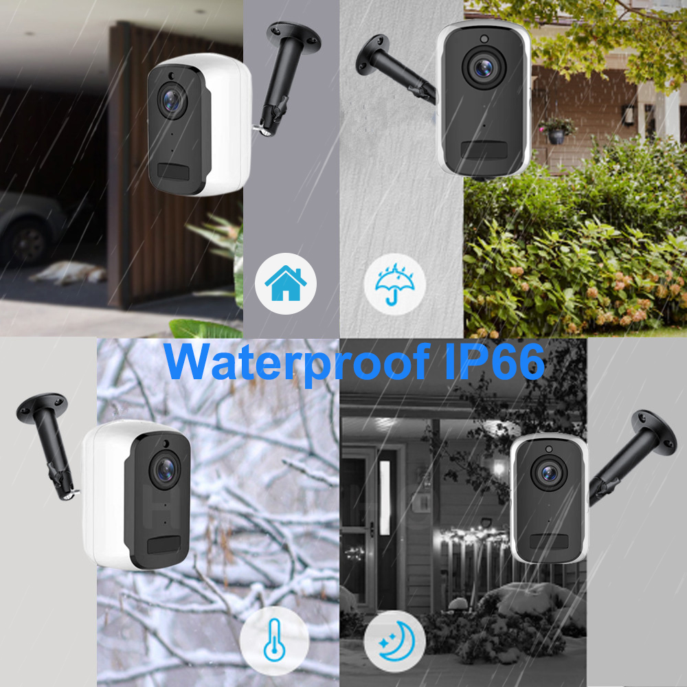 Image 3 - 1080P HD WiFi IP Camera Outdoor Wireless Security Battery Charge Camera Audio Surveillance CCTV PIR Motion Detection SD Card-in Surveillance Cameras from Security & Protection