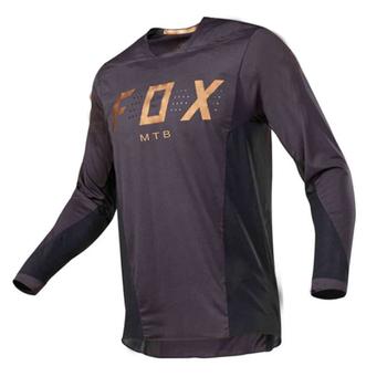 Męska koszulka z długim rękawem FOXMTB odzież sportowa outdoorowa koszulka zjazdowa DH MX górska koszulka rowerowa Maillot Motocross rowerowa koszulka męska tanie i dobre opinie CN (pochodzenie) Poliester Pełna Wiosna summer AUTUMN Koszulki Nie zamek Jazda na rowerze Pasuje prawda na wymiar weź swój normalny rozmiar