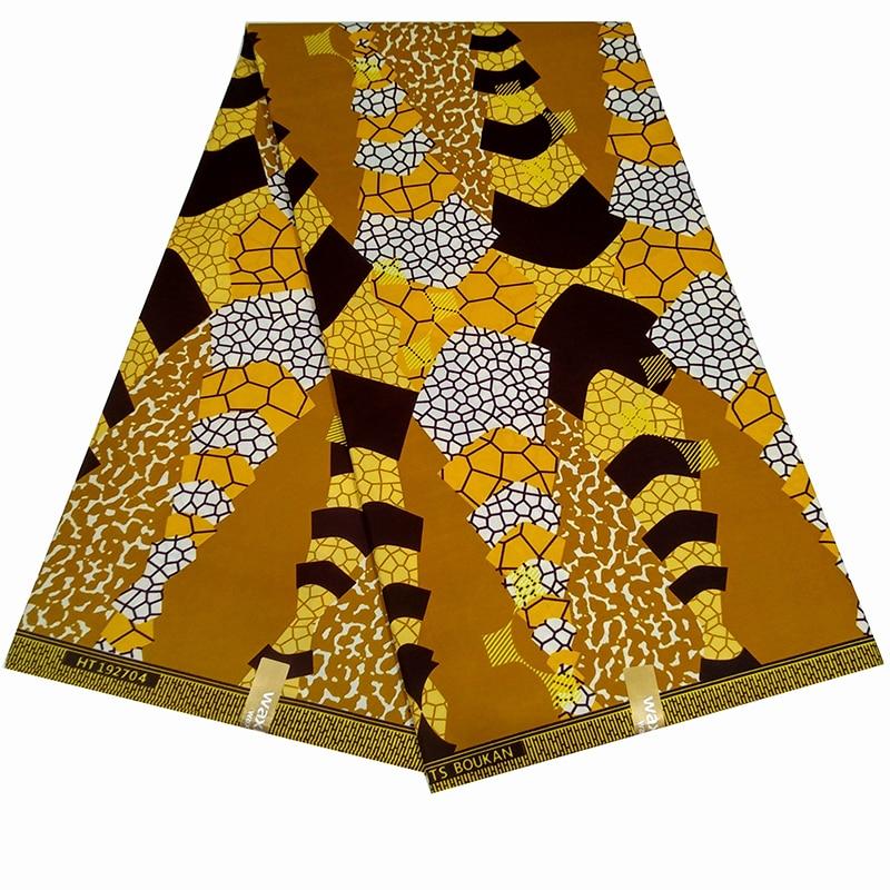 African Ankara High Quality Fashion Real Dutch Wax Fabric For Fashion African Women Dress Kitenge Wax Fabric 6 Yards