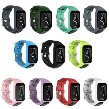 Silicone Replacement Wrist Band Strap For TomTom Runner 2 3 Spark GPS Watch - discount item  33% OFF Watches Accessories