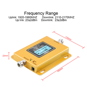Image 2 - 70db 3g 2100 Repeater Cell Phone Signal  Repeater Mobile 2100MHz Signal Booster Amplifier LCD LTE WCDMA UMTS Dropshipping