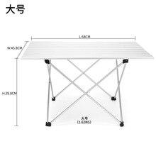Mesa plegable de aluminio para exteriores de alta calidad, para camping, pícnic, barbacoa portátil, Muebles De Jardín, escritorio, cocina metálica, coche de jardín